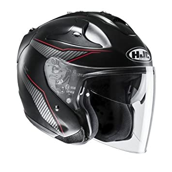 HJC Helmets Casco fg-jet Jike cascos de motocicleta, color negro/rojo,