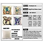 "Redland Art Cute Pet Border Collie Dog Pattern Cotton Linen Throw Pillow Covers Car Sofa Cushion Cases Home Decor Square 18""X18"" Inch 7"