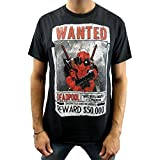Marvel Deadpool Armed N Dangerous Black Adult T-Shirt-X-Large