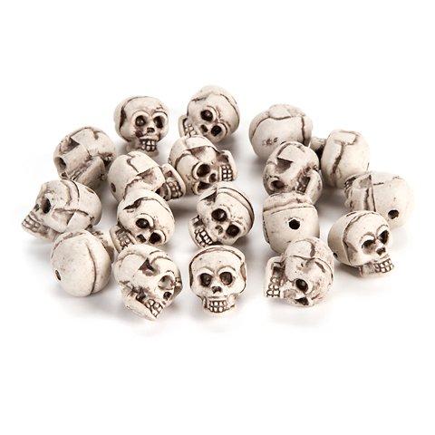 Darice DAR3112.378 18 Piece Skull Plastic.079 (Skull Halloween Decoration)