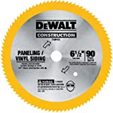 DEWALT DW9153 6-1/2-Inch 90 Tooth Paneling and Vinyl Cutting Saw Blade with 5/8-Inch Arbor
