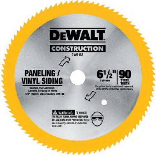 DeWalt 6-1/2英寸圆锯片,用于镶板/乙烯基