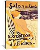 Salon des Cent: Exposition Internationale d'Affiches - Henri de Toulouse-Lautrec (1864 ? 1901) was a French painter, printmaker, draftsman, and illustrator. The period he created his art was known as the Belle Epoque and his focus was on the decadenc...