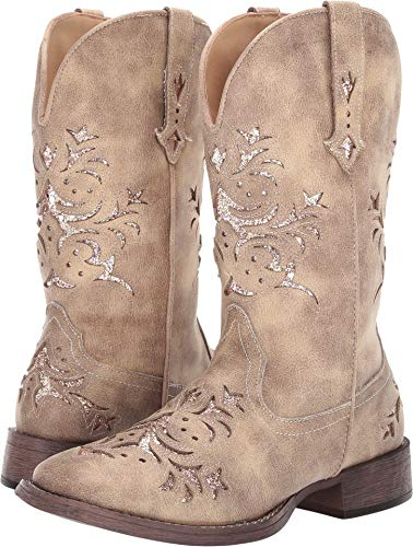 ROPER Ladies Kennedy Square Toe Tan Boots 5