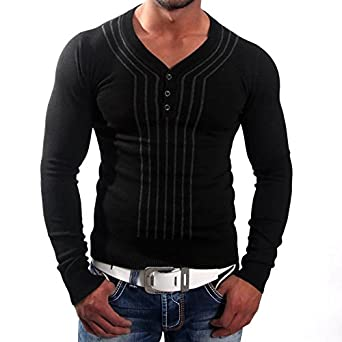 Play Star V Neck Pullover Herren Sweatshirt Pulli Hoodie Jp 2397