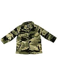 Fleece Zip-up Jacket Camouflage Print