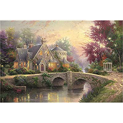 Puzzles for Adults 1000 Piece Jigsaw Puzzle for Age 12+, Hand Made Puzzles Personalized Gift, Spring by Thomas Kinkade: Toys & Games