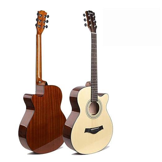 Hjyi Guitarra acústica Guitarra para Principiantes Principiante ...