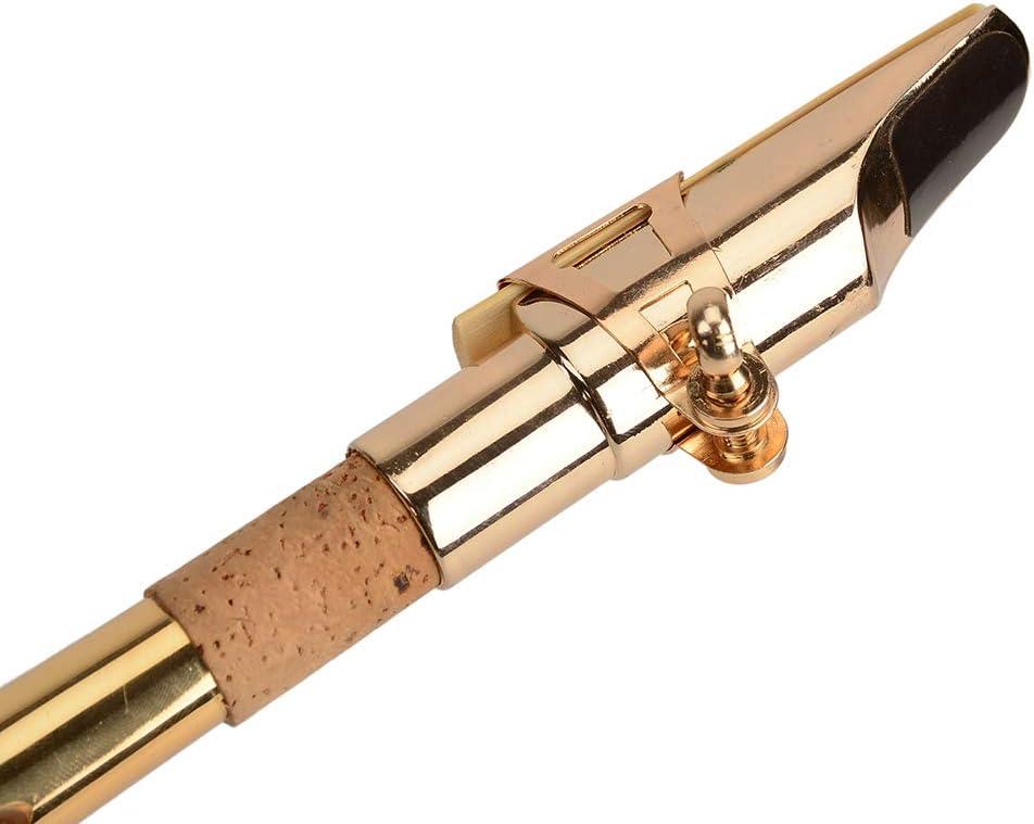 Almencla Boquilla de Saxof/ón Saxo Soprano Pl/ástico Accesorios para Instrumentos de Viento Metal