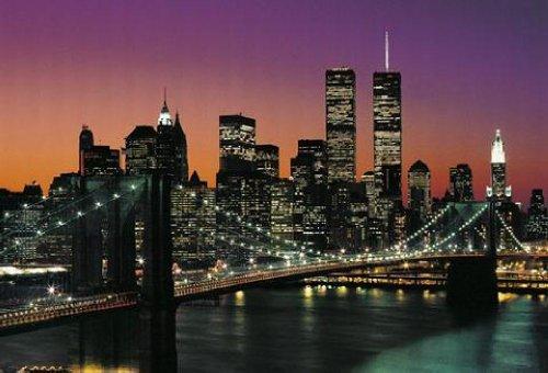 1art1 40563 New York - Manhattan 8-teilig, Fototapete Poster-Tapete (368 x 254 cm)