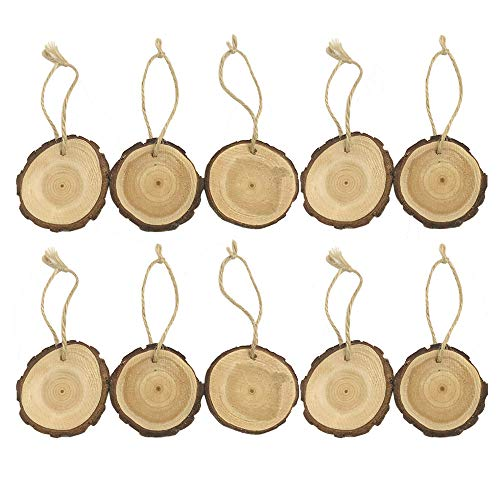 Fashionhe 10Pcs Wooden DIY Art Craft Christmas Tree