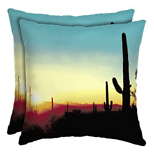 16'' Patio Square Toss Decorative Pillow (Set of 2, Southwest Scape) by Mainstays*