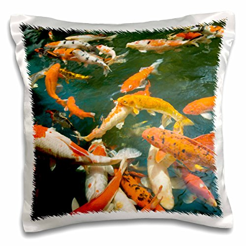 Danita Delimont - Fish - Ornament Koi, Shopping Mall, Malacca, Malaysia -AS23 SWS0093 - Stuart Westmorland - 16x16 inch Pillow Case - Westmorland Mall