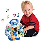 Happkid Preschool Learning Robot Toys, Dancing Robotic Teacher for Kids, Teach Letter, Numbers and Shapes with Moving Waist