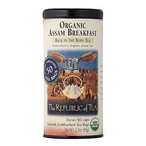 The Republic Of Tea Organic Assam Breakfast Tea, 50 Tea Bags, Premium Assam Black Tea, Certified Organic - Organic Assam Black Tea