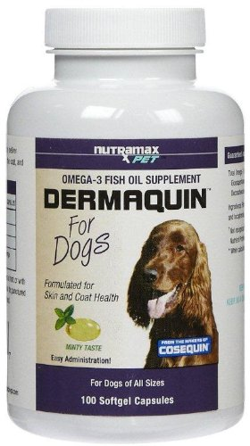 Dermaquin Softgel Capsule for Dogs, 100 Count, My Pet Supplies
