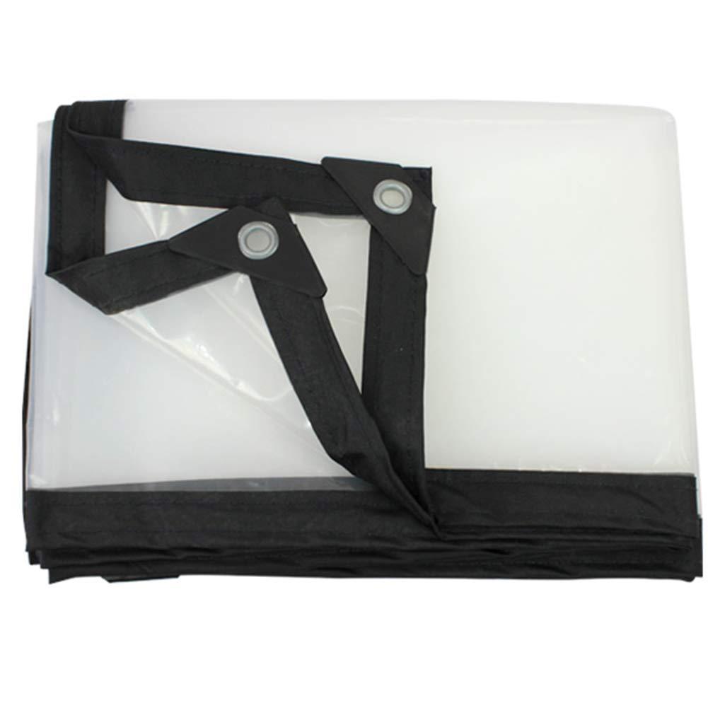 QX pengbu IAIZI Transparente Plane verdicktes Regenschutztuch Wasserdichte Kunststoffplatte Fenster Balkon Ernte Plane Shade Tuch (größe   5X6m)