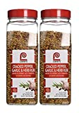 Lawry's Cracked Pepper, Garlic and Herb Rub, 24 Ounce (Pack of 2)