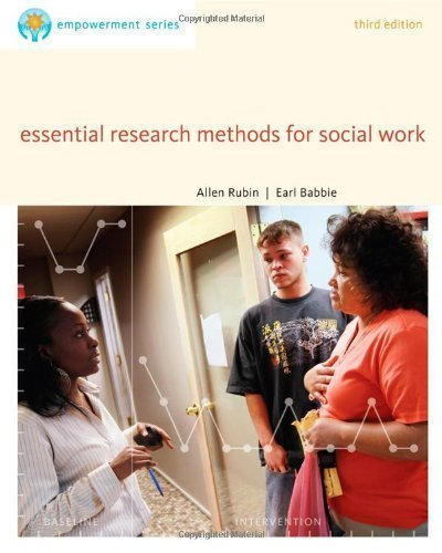Brooks/Cole Empowerment Series: Essential Research Methods for Social Work by Rubin, Allen, Babbie, Earl R. 3rd (third) (2012) Paperback