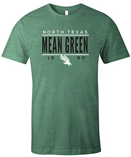 - Image One NCAA North Texas Mean Tradition Short Sleeve Tri-Blend T-Shirt, Green,XX-Large