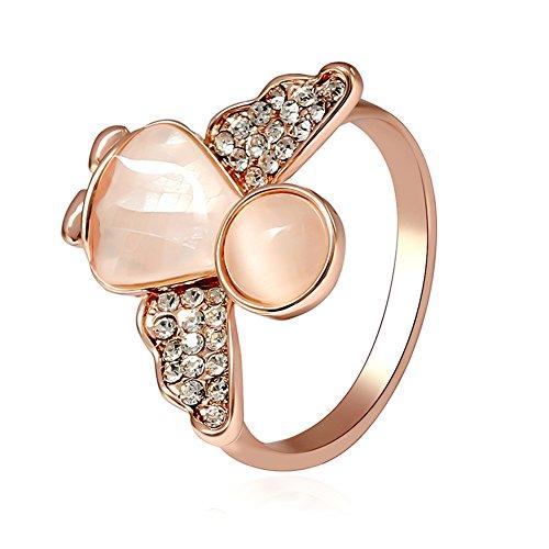 Enamel Butterfly Ring - 6