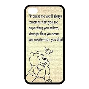High Quality Customizable Durable Several Rubber Material Winnie the Pooh Quotes iphone 6 4.7 retiring 6 4.7 with Back Cover Case enhance