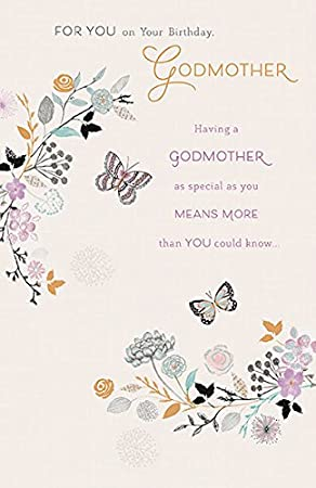 Godmother Birthday Card Amazoncouk Office Products