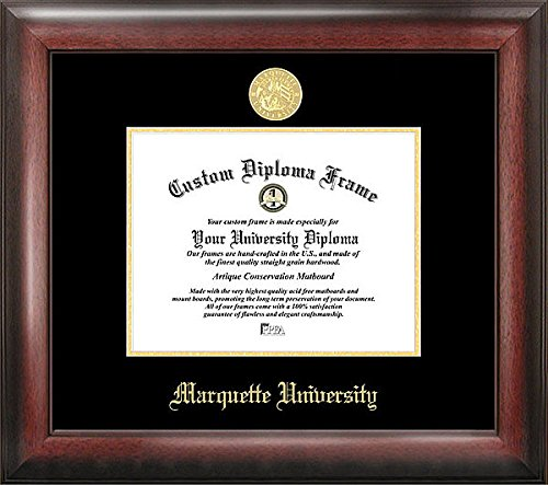 Marquette University Embossed Gold Foil Seal Graduate Diploma Frame (Ncaa Marquette Golden Eagles Seal)