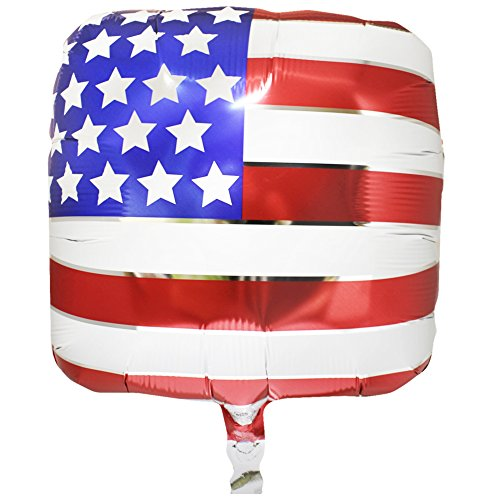 (Red, White and Blue Patriotic USA American Flag Metallic 18