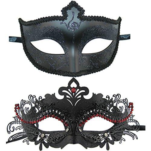 Couple Masquerade Mask Venetian Halloween Costume Mask Mardi