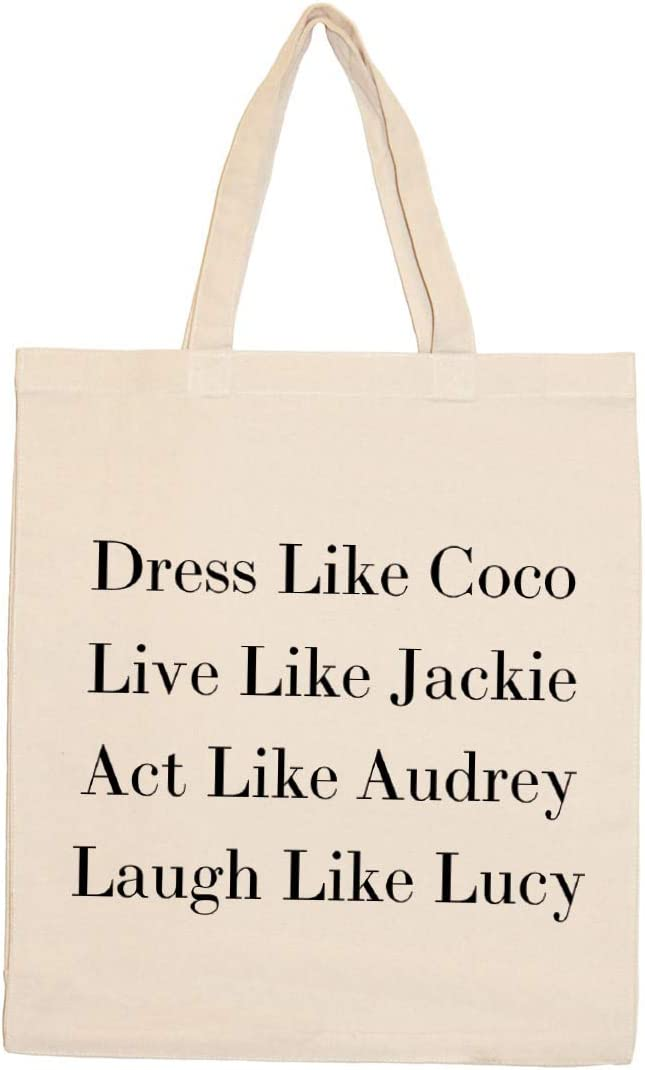 Live Laugh Love Quote Canvas Tote Shopping Bag Cotton Printed Shopper Bag Gift Grocery Fashion Tote Shoulder Bag