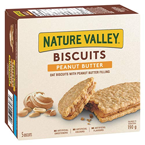 NATURE VALLEY Biscuits Peanut Butter, 5 Count, 190 Gram