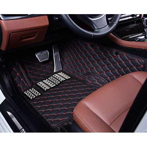 RSZX Custom Car Floor Mats for Tesla Model 3 Laser Measured All Weather. Largest Coverage Full Set - Black Waterproof