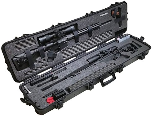 Case Club Pre-Made Waterproof Precision Rifle and AR Rifle Case with Accessory Box and Silica Gel to Help Prevent Gun Rust