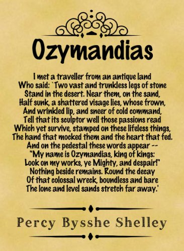 Amazon.com: A4 Size Parchment Poster Classic Poem Percy Bysshe ...