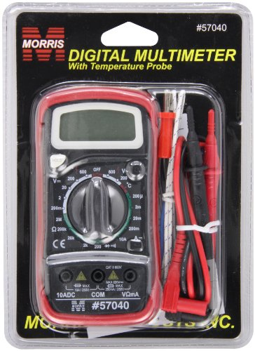 Morris Products 57040 Digital Multimeter with Rubber Holster & Temperature Probe
