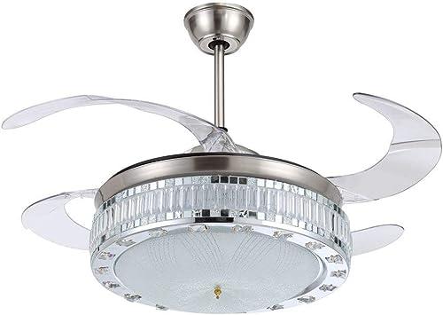 RS Iluminación 42 cm techo ventilador con aspas transparentes ...