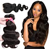Cheap Aphro Hair 8A Brazilian Virgin Human Hair Body Wave Bundles with Closure 100% Unprocessed Human Hair Weave With Lace Closure 22 24 26+20