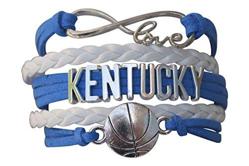 (Infinity Collection University of Kentucky Bracelet- Kentucky Wildcats Basketball Bracelet & Perfect Basketball Fan Gift)