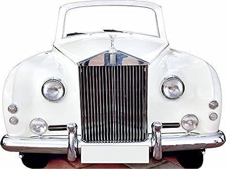 Oedim Photocall Coche de Bodas 2x1,50m | Photocall Coche Rolls Royce Blanco Ideal para
