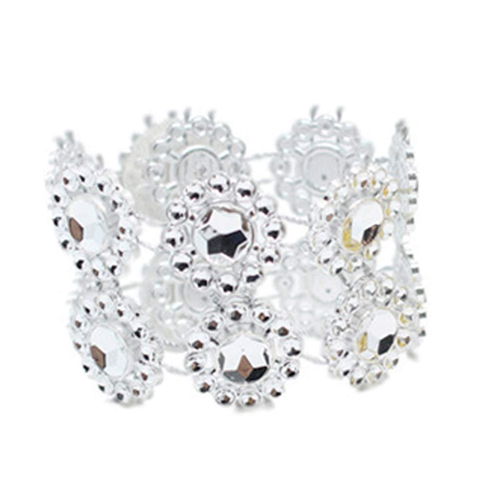 Tempshop 10 pz girasole tovagliolo anelli strass tovagliolo ornamento nozze tavolo forniture