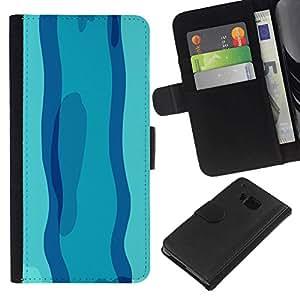 All Phone Most Case / Oferta Especial Cáscara Funda de cuero Monedero Cubierta de proteccion Caso / Wallet Case for HTC One M7 // Swimming in Blue day