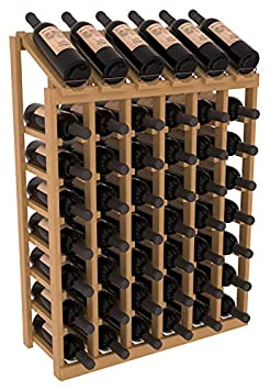 Wine Racks America Ponderosa Pine 6 Column 8 Row Display Top Kit. Oak Stain Satin Finish