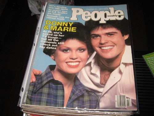 People Weekly Magazine (DONNY & MARIE OSMOND , 007's Dazzling New Lady Spook, October 31 , 1977) Donny Marie Osmond Family