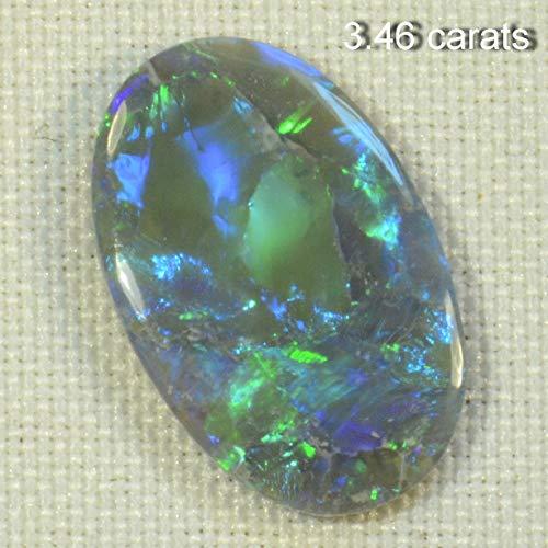 3.46 carats Solid Lightning Ridge Black Opal (15085) ()