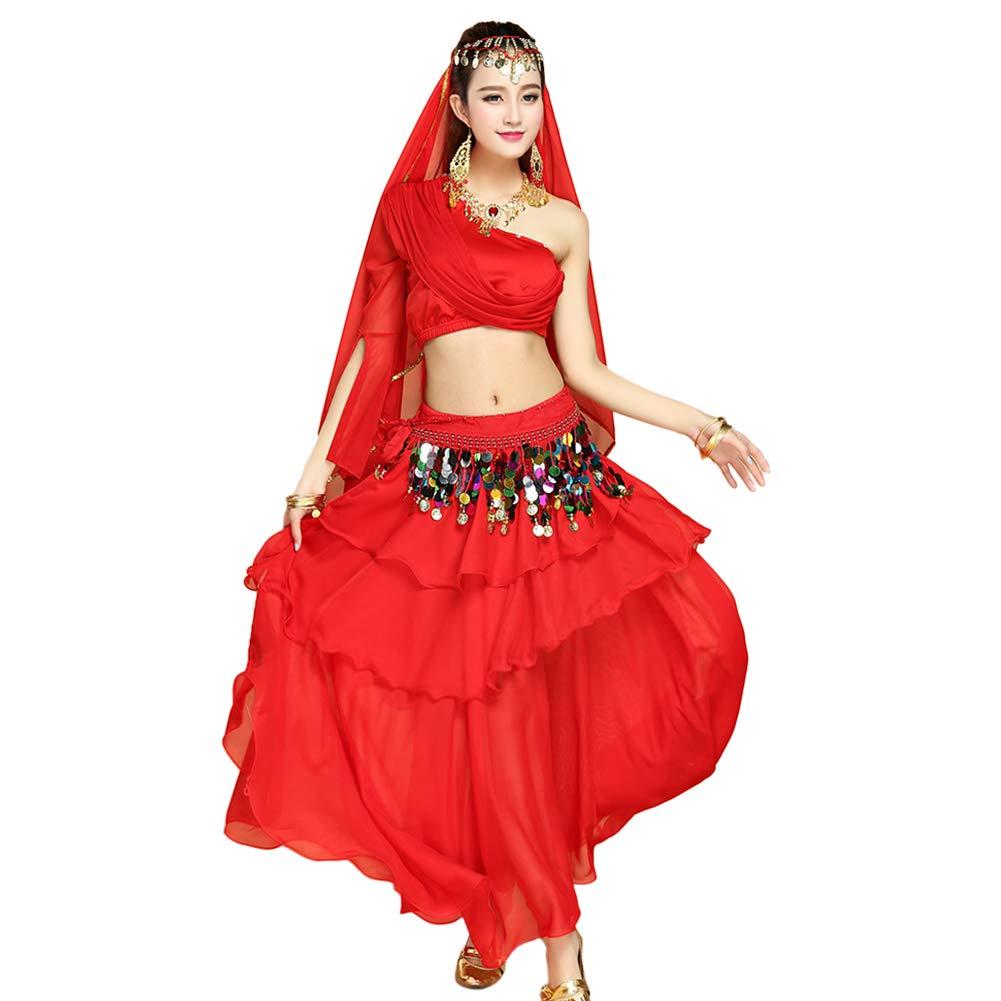 Danza del Ventre Outfit Set Halloween Carnevale Ballando Performance Abiti Xinvivion Danza Indiana Costume per Donne