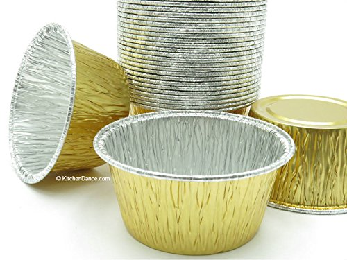 Disposable Aluminum Gold 4 oz. Baking Cups/ramekins #1110NL (2500) by AGIANT