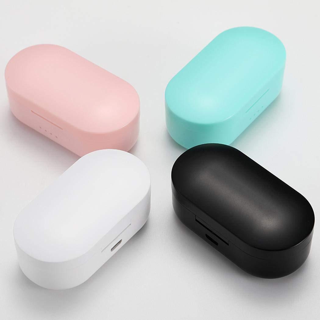 YENJOS Auricular Bluetooth inal/ámbrico con almac/én de Carga Auriculares