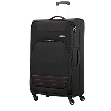 TROLLEY GRANDE AMERICAN TOURISTER BOMBAY BEACH ONYX BLACK 80-30 SPINNER