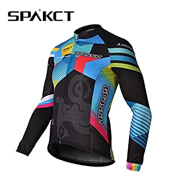 d82dbb866 Byary(TM) 2016 New SPAKCT HO-COOLING Material Breathable Men s Cycling Long  Jersey Bicycle Riding Clothes With Reflective Stripe  Amazon.co.uk  Sports    ...